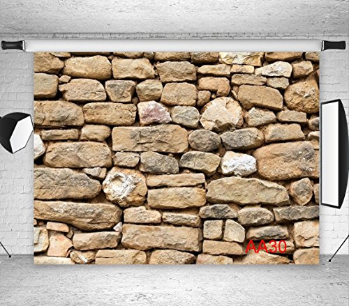 LB 7x5ft Stone wall Vinyl Photography Backdrop Customized Photo Background Studio Prop AA30 -