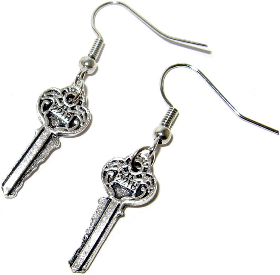 QueenGEEK Sherlock Holmes Key to 221B Earrings US SELLER