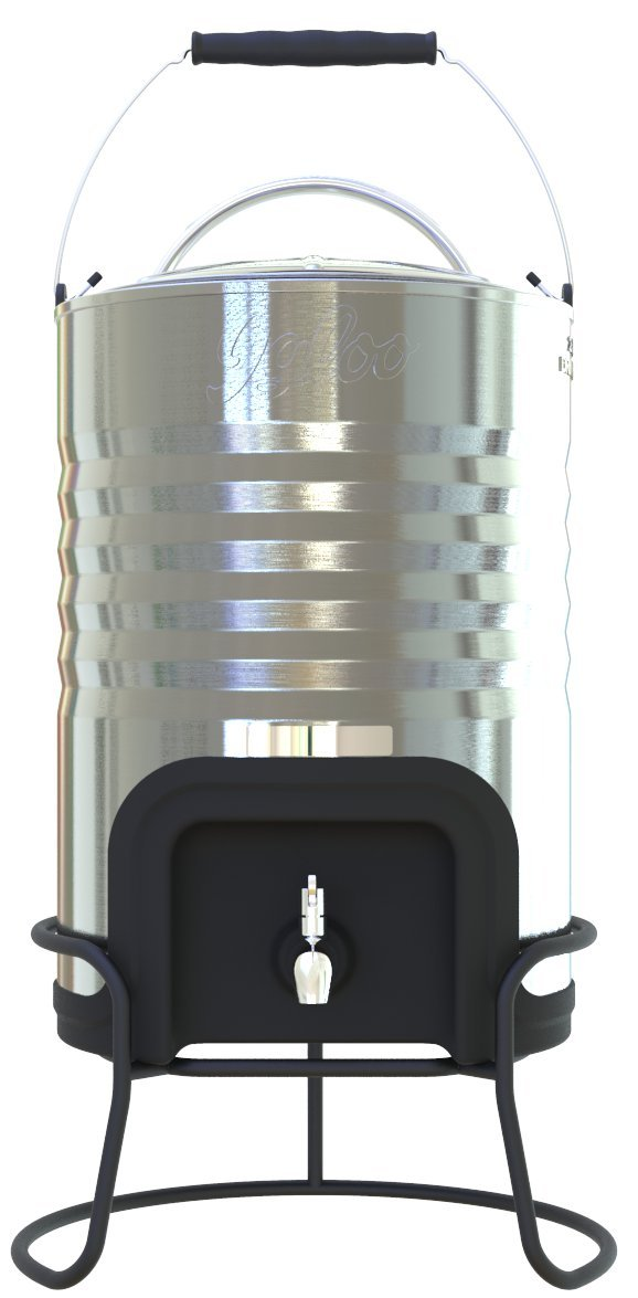 Iglu Legacy Edelstahl 2,5 Liter Kühler, Metallic Silber/Schwarz, 2,5 Gal/10 QT./9.4 groß
