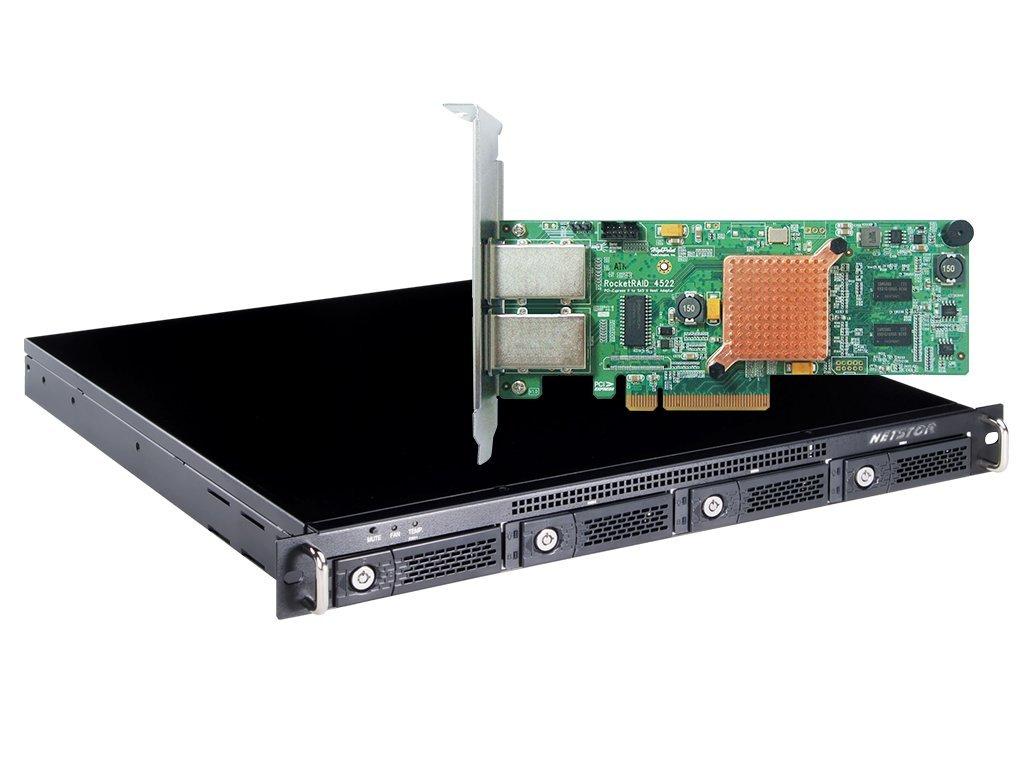 HighPoint RocketStor 6421AS 4-Bay 6Gb/s SAS/SATA Rackmount Hardware RAID Solution