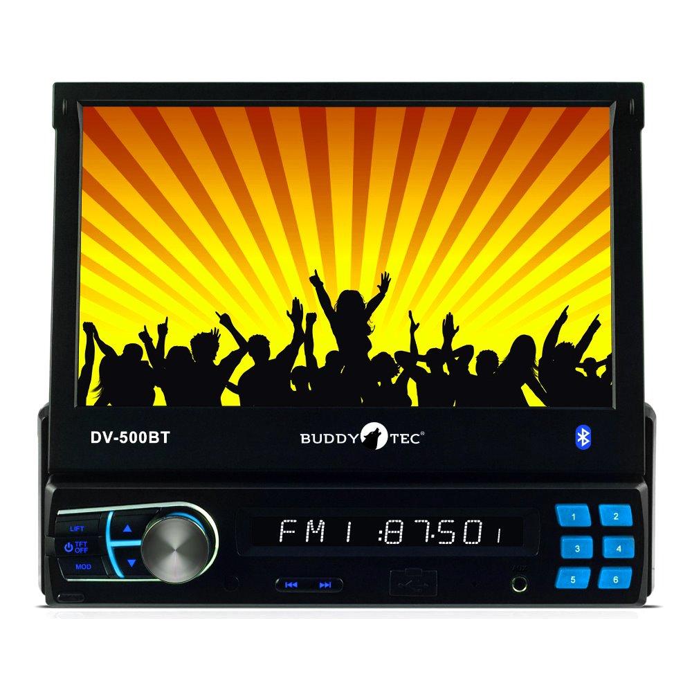 Buddytec DV-500BT RDS-Autoradio mit 7'TFT USB SD/MMC MP4/MP3/WMA Bluetooth Fernbedienung 200 Watt