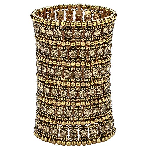 Hiddleston Multilayer 6 Row Jewelry Gothic Stretch Bracelet Sleeve Arm Armband Armlet Cuff Rocker Wristband Heavy Metal Bobo Halloween Costume Women Accessory