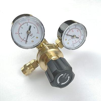 "Argon CO2 Regulators Gauges Gas Welding Regulator CGA580 FEMALE 5/8"" and MALE 9/16"" Outlet"