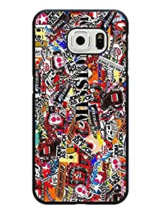 Caitlin J. Ritchie's Shop 8649055M391894555 Fantasy Sticker Bomb Series Cute Design Samsung Galaxy S6 Edge Anti-dust Case Cover
