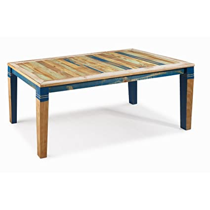The Beach House Design Reclaimed Collection Dining Table 71 Solid Wood Distressed Color
