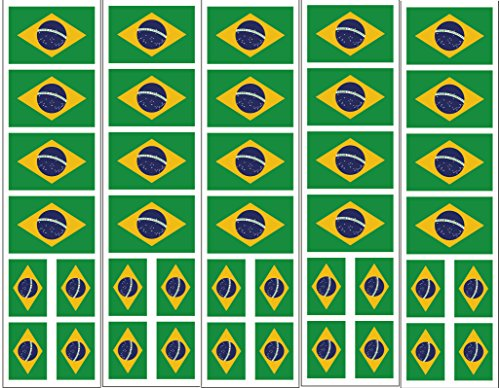 40 Tattoos: Brazil Brasil Flag, Brazilian Party -