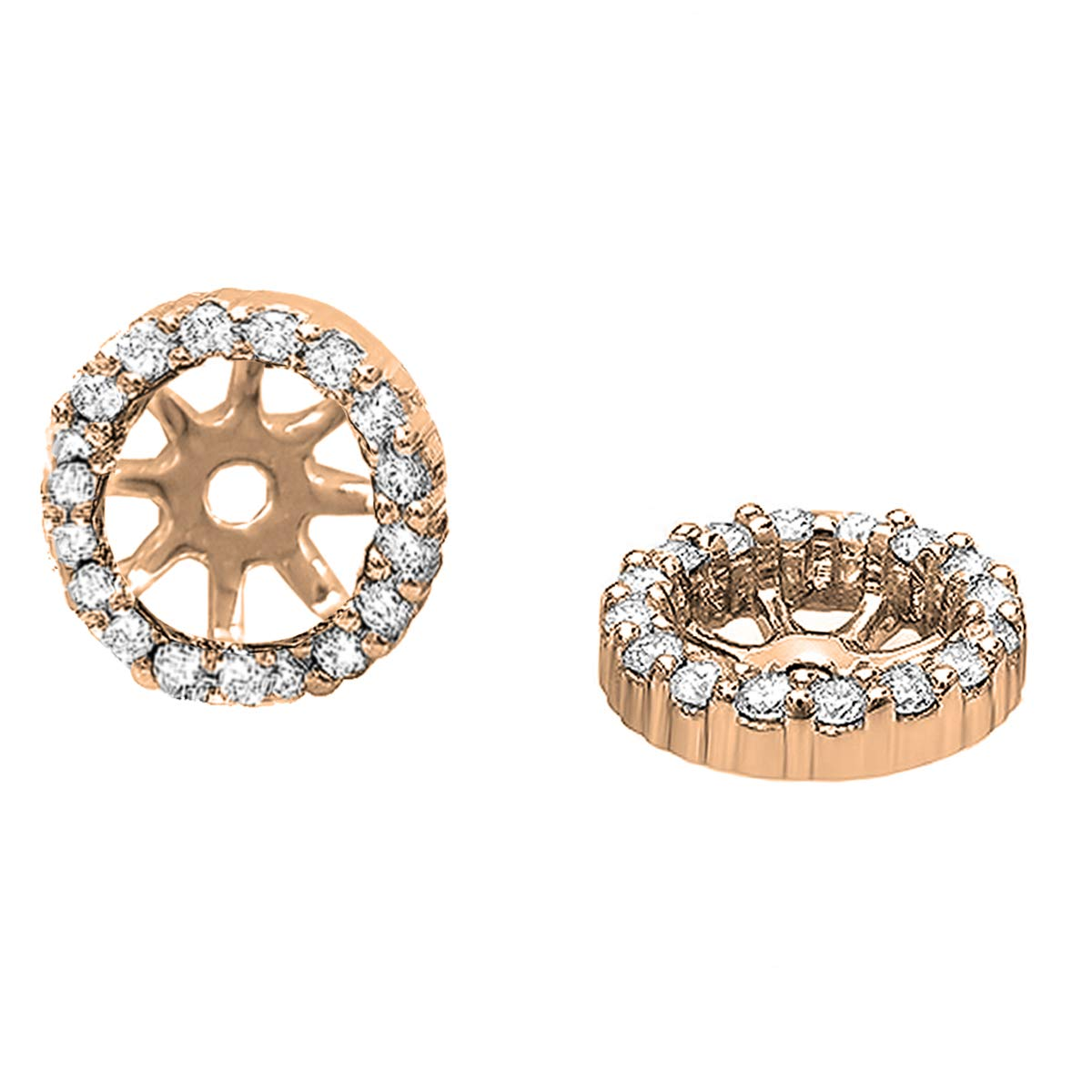 9b986d9735d0c 0.25 Carat (ctw) Round Diamond Removable Jackets for Stud Earrings 1/4 CT