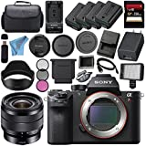 Sony ILCE7RM2/B Alpha a7R II Mirrorless Digital Camera (Body Only) + Sony E 10-18mm f/4 OSS Lens SEL1018 + 256GB SDXC Card + NP-FW50 Lithium Ion Battery + External Rapid Charger Bundle