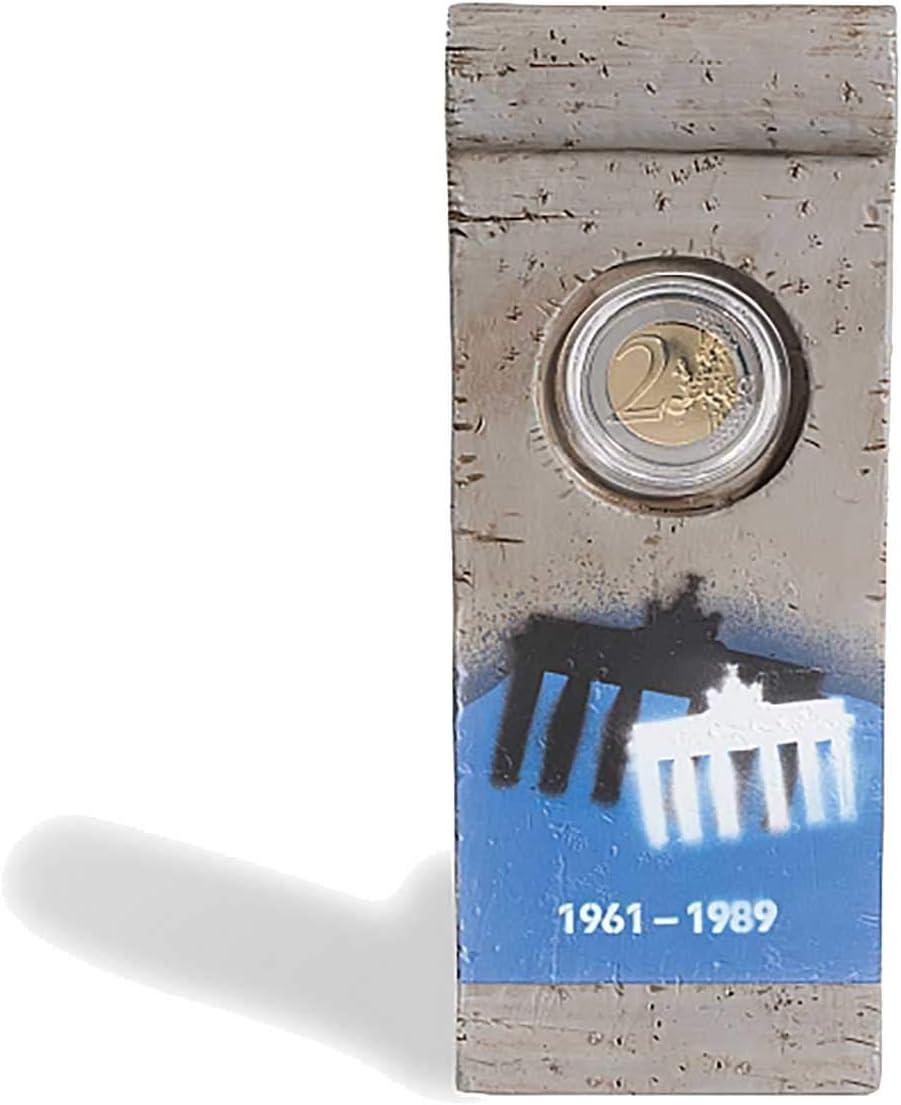 Leuchtturm Elemento de Muro de Bérlin con capsula para 1 Moneda de 2 Euros Conmemorativa: Amazon.es: Juguetes y juegos
