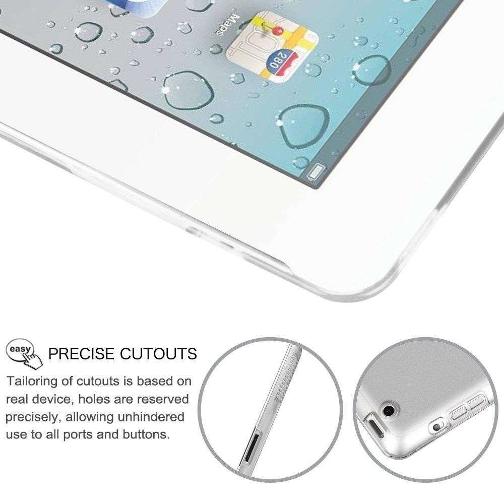 FINTIE iPad 2//3 iPad 4 Retina 4 Cover iPad 3 Viola Chiaro Ultra Sottile del Basamento Leggero Semi-Trasparente Custodia Smart Case Cover con Auto Sveglia//Funzione per Apple iPad 2