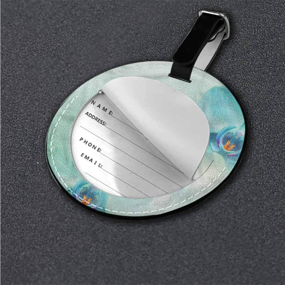 Tags Portable Label Flower,Overlapping Circles Romantic