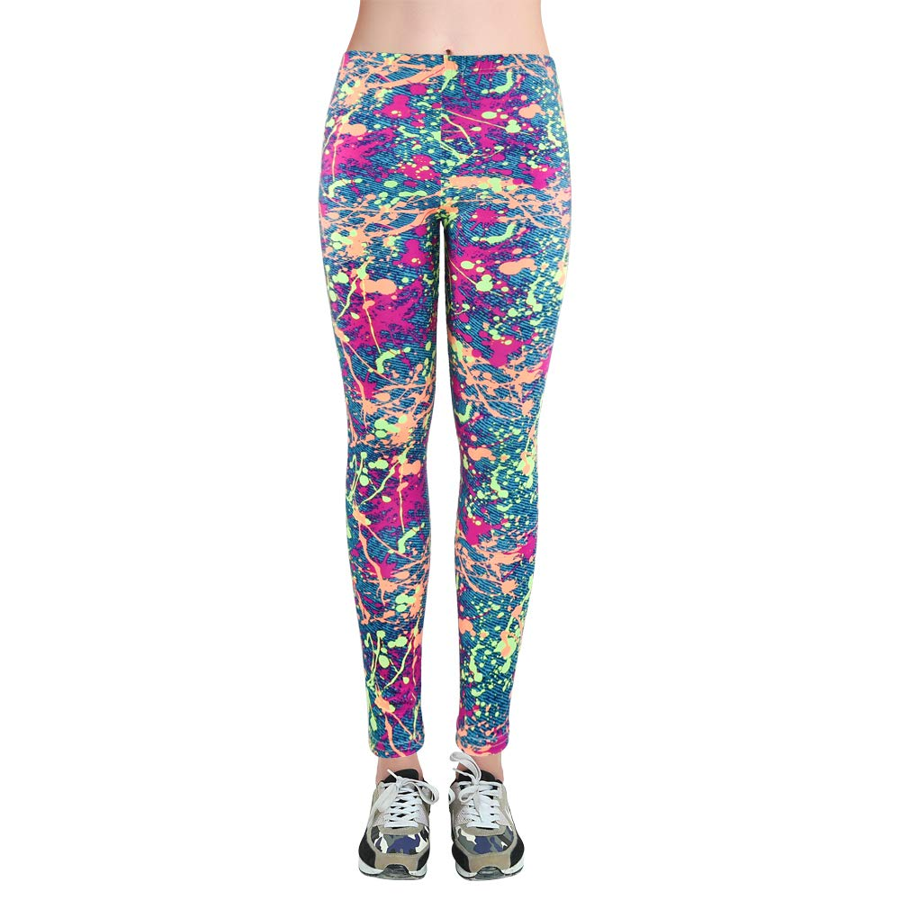 LiPa Tova Womens Leggings Soft Stretchy Ankle Length Yoga Pants (D-XL)