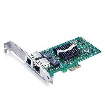 10Gtek® Tarjeta de Red Gigabit PCIE E1G42ET - Intel 82576 Chip, Dual RJ45 Puertos, 1Gbit PCI Express Ethernet LAN Card, 10/100/1000Mbps Nic para ...