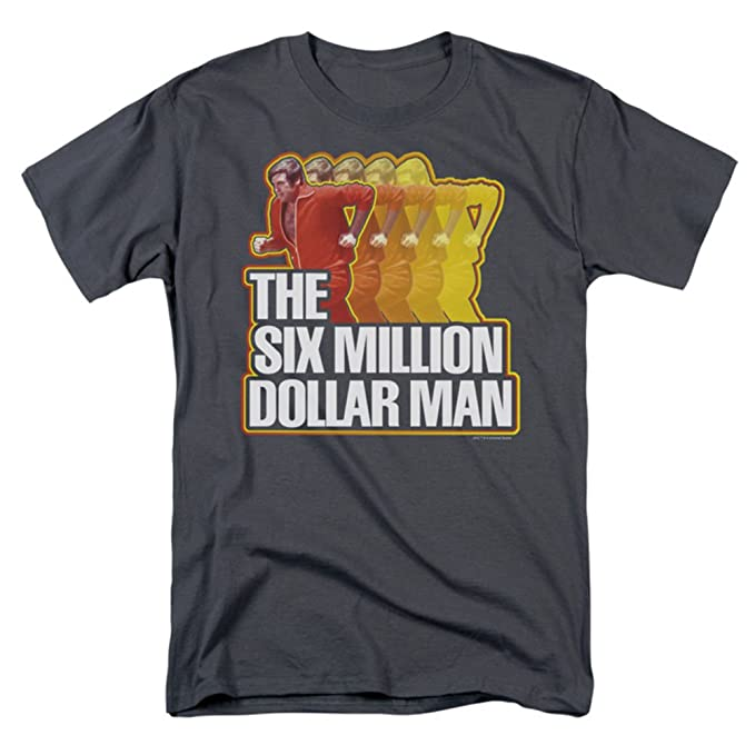 d65627925c1 Amazon.com  Six Million Dollar Man Men's Run Fast T-shirt Charcoal  Clothing
