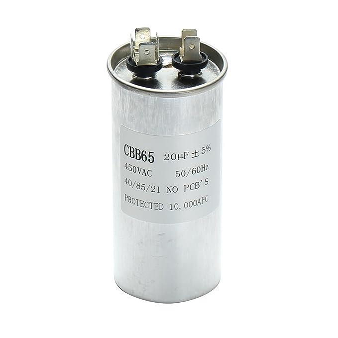 Bluelover 15-50Uf Motor Condensador Cbb65 450Vac Compresor De Aire Acondicionado Inicio Capacitor-D: Amazon.es: Hogar