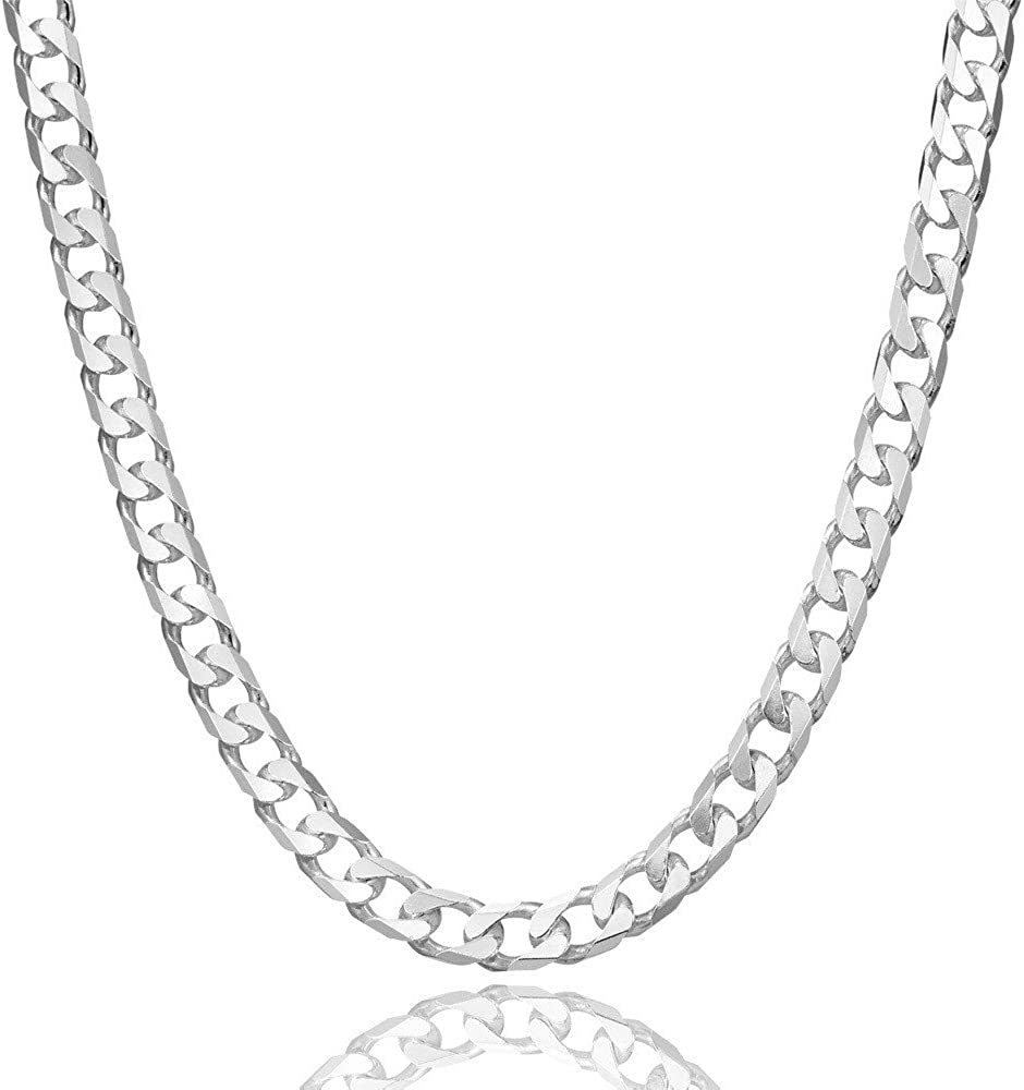 """22/"""" 56 CM 1 STERLING SILVER 925 MEDIUM WEIGHT STRONG CURB NECKLACE CHAIN"""