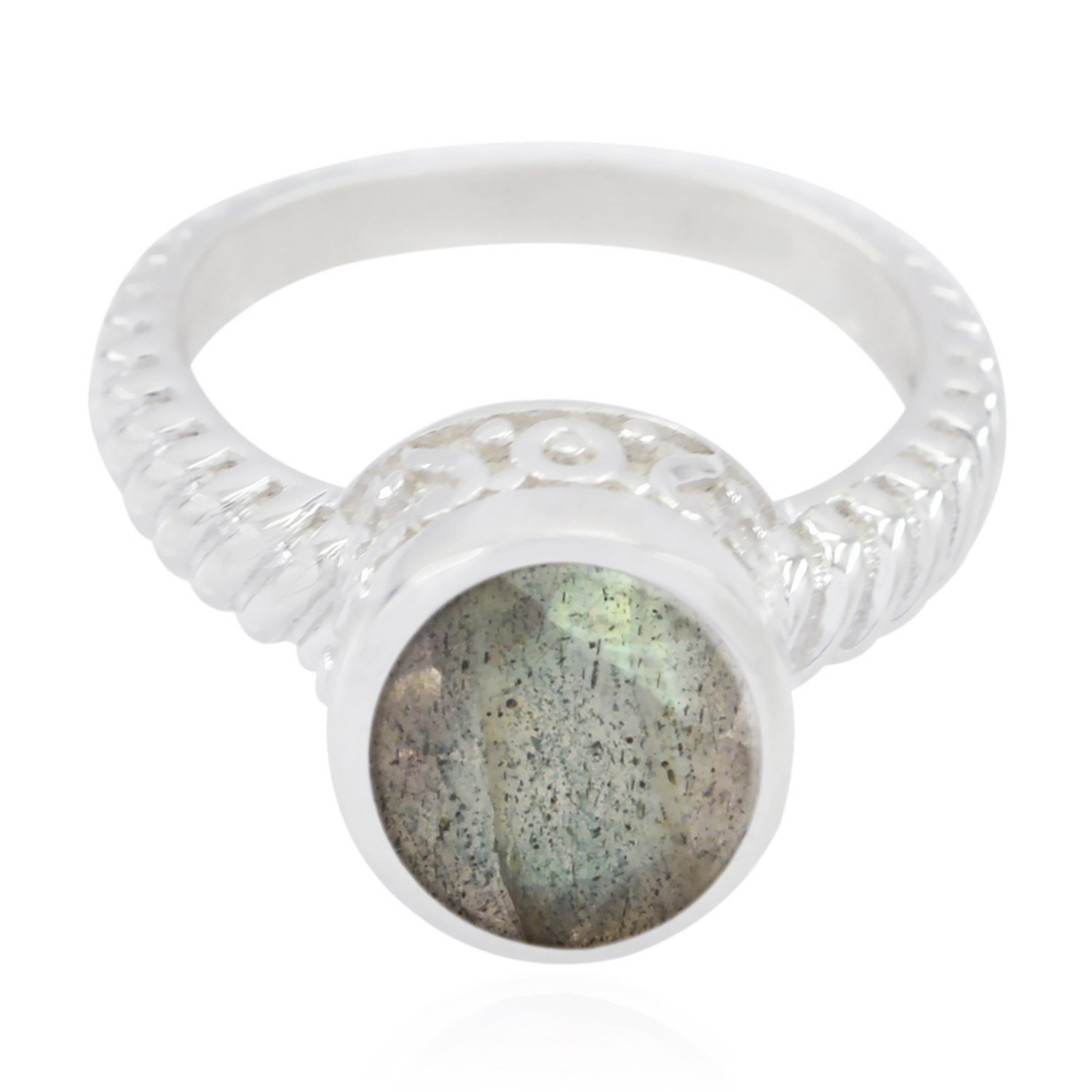 Natural Gemstone Round Faceted Labradorite Ring jents Jewelry fine Item Gift for Mothers Day Knot Ring 925 Sterling Silver Grey Labradorite Natural Gemstone Ring