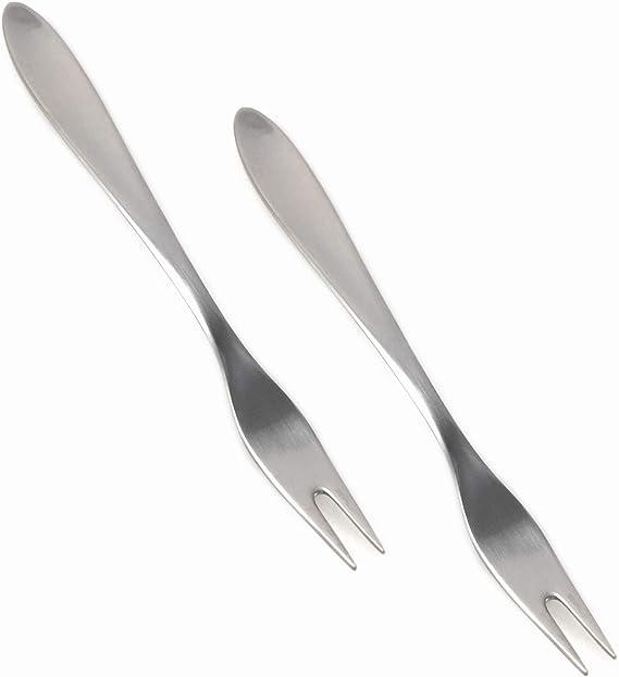 Carl Mertens Solingen Alemania 2 Tenedores con 2 púas como Buffet Tenedor/ – Tenedor de Servir/de Embutidos Tenedor púas Longitud: 1,5 cm: Amazon.es: Hogar