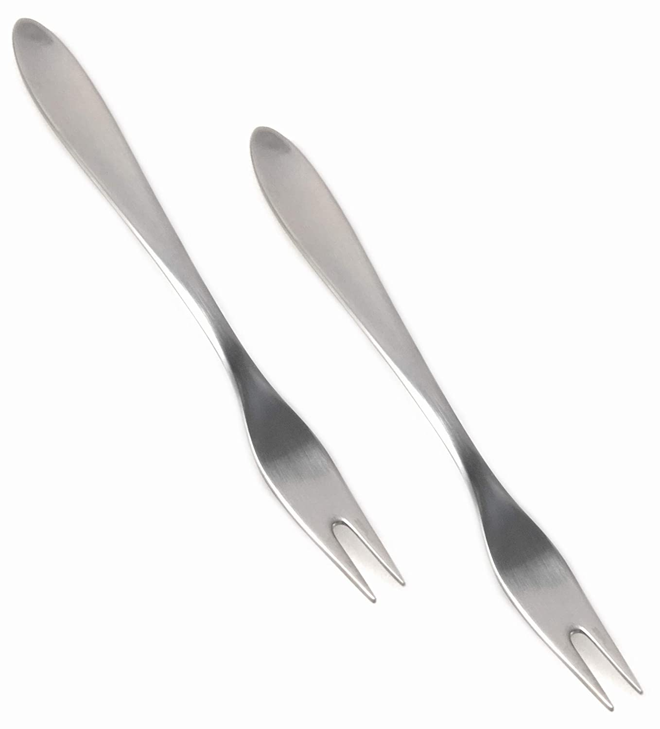 Carl Mertens Solingen, Germany Set of 2 Forks with 2 Prongs as Buffet Fork/Serving Fork/Slicing Fork Tooth Length: 1.5 cm