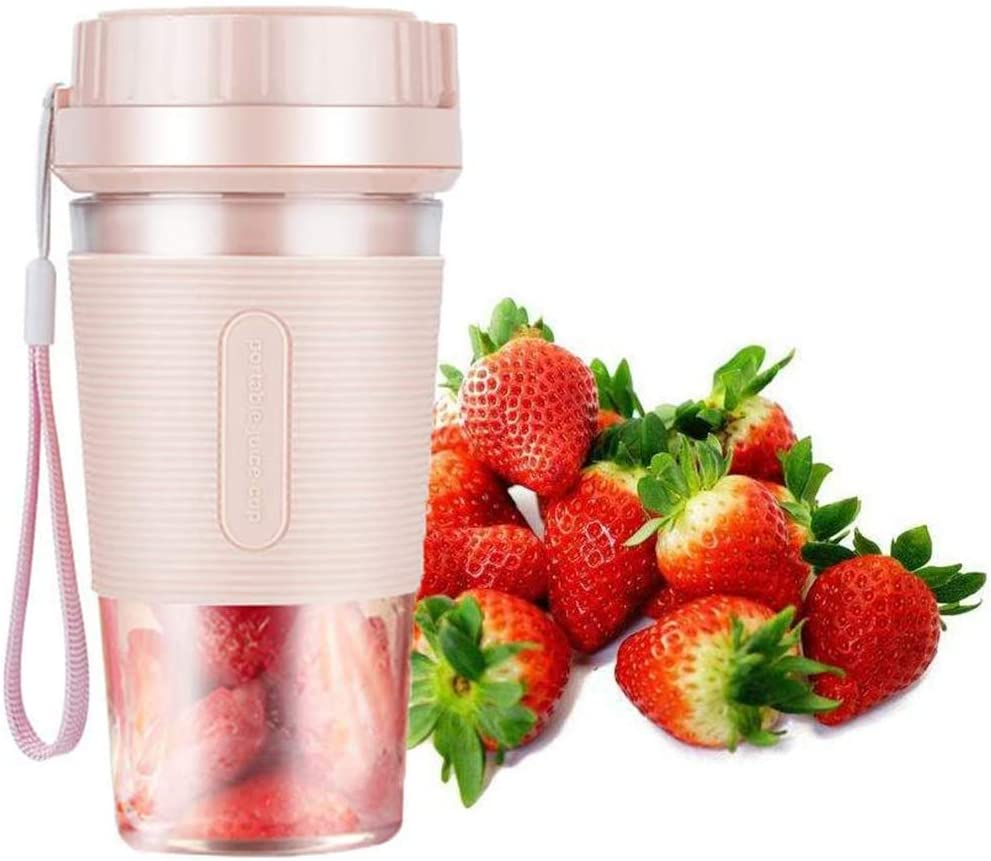 PBQWER Portable Blender, Handheld Fruit Mixer Machine Personal Blender, Mini Blenders 1200Mah 300Ml USB Rechargeable Juicer Cup, Blender Mixer Home/Office/Outdoors