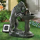 Thirsty Dog Garden Water Fountain - Solar panel, Pump and Electrical Adapter Included