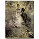 Trademark Fine Art The Lovers c.1875 by Pierre Renoir Canvas Wall Art, 35x47-Inch