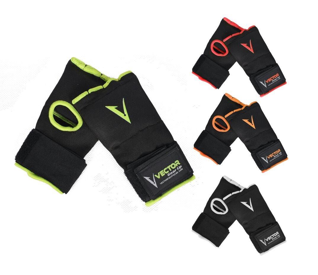 Vector Sports - Vendajes de mano de Gel Acolchado para entrenamiento, Unisex, Protector de puño, para ser usado debajo de los guantes para boxeo MMA Kickboxing Muay Thai, 4 colores