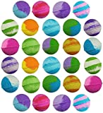 28 pack USA Vegan Bath Bombs kit – Perfect for Stocking Stuffers - Handmade with Organic Essential Oils Lush Spa Bath Fizzies for Moisturizing Dry Skin - Best Gift idea for Holidays