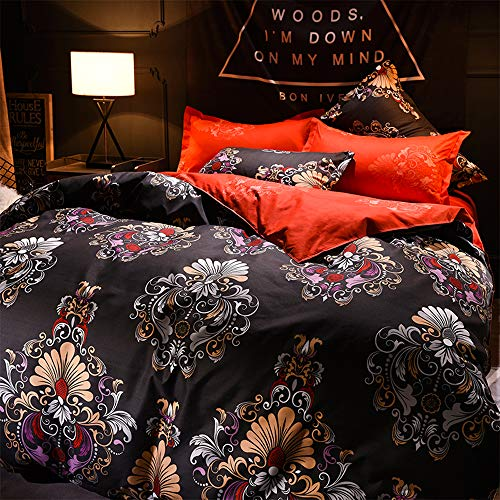 TEALP Duvet Cover Sets Sheets Pillowcases Quilt Cover European French Bedding Cotton Court Style Queen 2 Pillow Shams Paisely (Bedding Paisely)