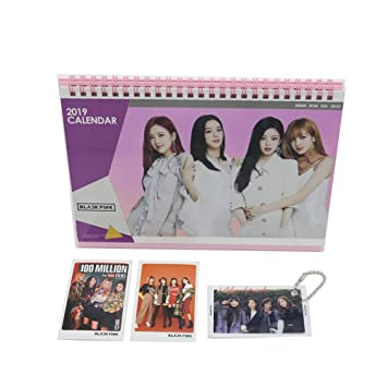 BlackPink 2019 Desk Calendar with Photo Cards with Key Ring…