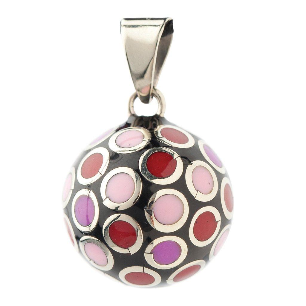 Bola BOLAVO101 Colgante de bola para embarazada color rojo y rosa