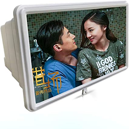 14 Inch Eye Protection Mobile Phone HD Screen Amplifier Eye Protection Magnifying Glass Folding Lazy Bracket White Standard Screen Amplifier XIONGHAIZI Mobile Phone Screen Amplifier