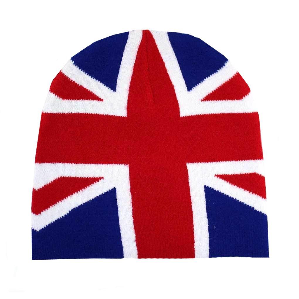 British Flag Beanie Red White & Blue Knit Hat Snowboard Headgear LEE039 FT705