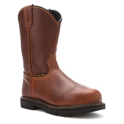 634e7fcc9f6 McRae Industrial Mens Brown Western Metarsal Steel Toe Guard Work Boots