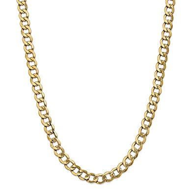 14k Yellow Gold 8mm Curb Cuban Link Chain Necklace 20 Inch Pendant Charm  Fine Jewelry Gifts f76937785e