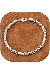 IVYRISE Fashion Jewelry Silver Exquisite Small Chain Bracelet Bangle 8 Inch 925