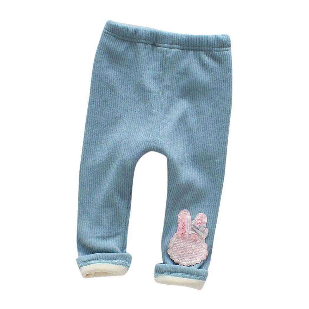 Baby Girls Legging ,Clode® For 0-4 Years old Warm Winter Baby Girl Pants Child Thick Full Length Leggings Pants Trousers Autumn Winter Pencil Pants Clode-T76