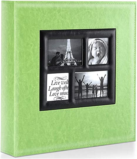 Amazon Com Ywlake Photo Album 4x6 500 Pockets Photos Extra Large Capacity Family Wedding Picture Albums Holds 500 Horizontal And Vertical Photos Green Home Kitchen