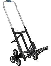 OldFe Capacità 190kg Carrello Pieghevole Per Scale Con 6 Ruote Carrello Trasformabilble Per Scale In Acciaio Carrello Per Scale 6 Ruote Portapacchi Manuale Da Trasporto Montascale Scale