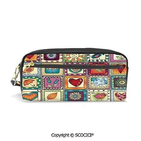5b1c39878b77 Amazon.com : Fasion Pencil Case Big Capacity Pencil Bag Makeup Pen ...