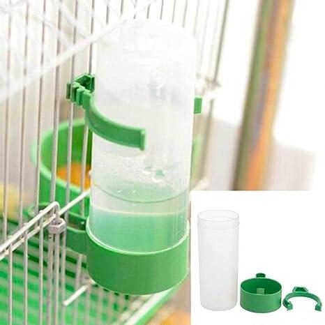 Bebedero Agua Distribuidor loro Pájaros dependiendo gancho jaula ...