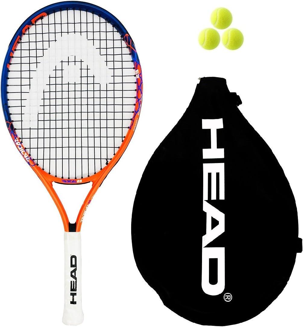 Head Radical Junior 19,21,23,25,26 raqueta de tenis + 3 Pelotas de ...