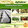Agfabric Advanced-Heavy Floating Row Cover and Plant Blanket Roll Style, 1.2oz Fabric for Frost Protection and Terrible Weather Resistant ¡­