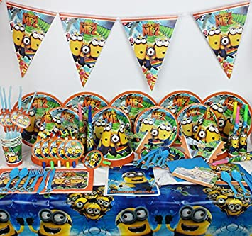 Minions Despicable Me 2 Kids Birthday Party Supplies Set Teller Becher Servietten Partytuten Und Mehr