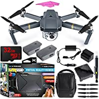 DJI Mavic Pro Quadcopter Drone Fly More Combo Pack with 4K Camera and Wi-Fi , 3 Batteries , DJI Custom Case , Charging Hub + Virtual Reality Experience Bundle