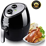Air Fryer Electric 3.8QT XL Low Fat Fryer,Oil Free Air Fryer,Dishwasher Safe Auto Shut off & Timer Fry drawer 7-in-1 XL with 5-piece Accessory 1500W Watt Electric Deep Fryers Multi-function with Rapi