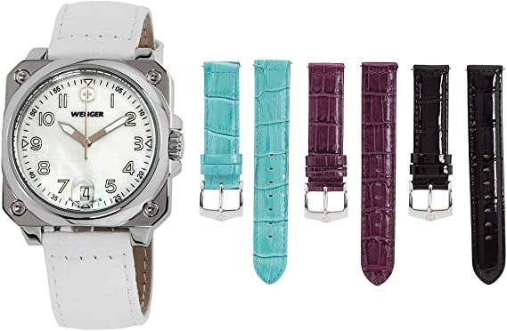Amazon.com: Relojes Mujer WENGER aerograph cabina 3 manos ...