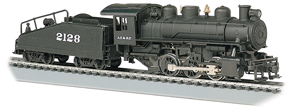 Bachmann Industries USRA 060 Locomotive with Smoke and Slope Tender S.FE #2128 HO Scale Train Car
