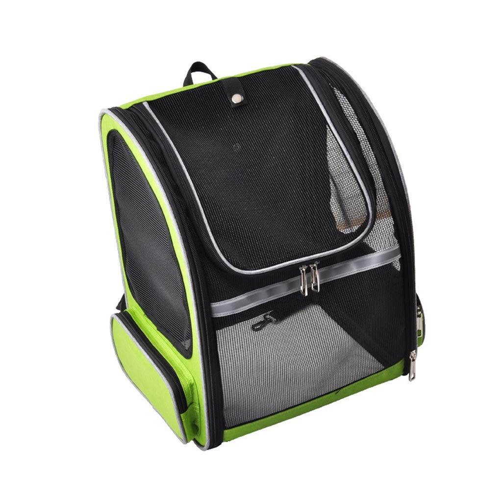 Green YT- Deluxe Pet Carrier Backpack for Small Cats and Dogs, Ventilated Design, Safety Features and Cushion Back Support Travel (color   Green)