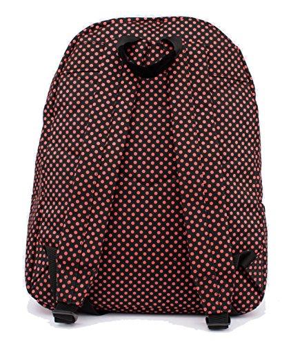 Hype Mochila Bolsas Mochila | nuevos diseños y colores | ideal para escuela bolsas–�?0nuevos estilos Red Polka Dots